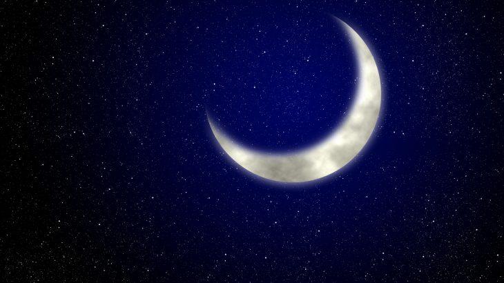 星空と月の写真