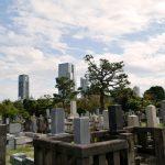 墓地の風景写真
